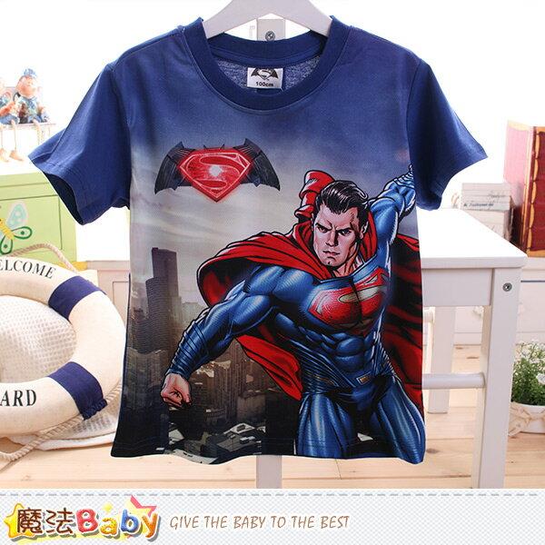 男童裝 蝙蝠俠對超人正義曙光授權短袖T恤 魔法Baby~k50096