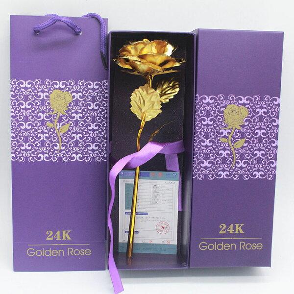 【情人節必備】24k金箔玫瑰花24K金箔康乃馨花束禮盒母親節禮物情人節禮物