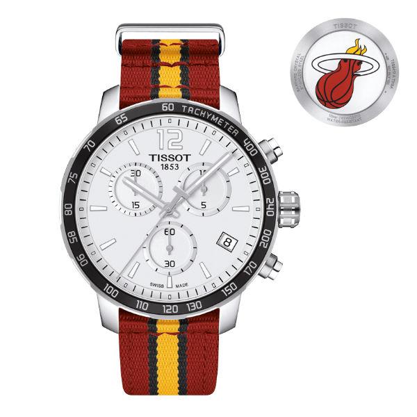 TISSOT天梭T0954171703708 熱火隊特別版計時腕錶/白面42mm
