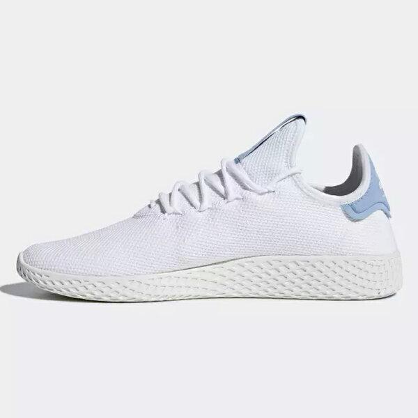 AdidasPHARRELLWILLIAMSTENNISHU男鞋女鞋休閒白粉藍【運動世界】CQ2167