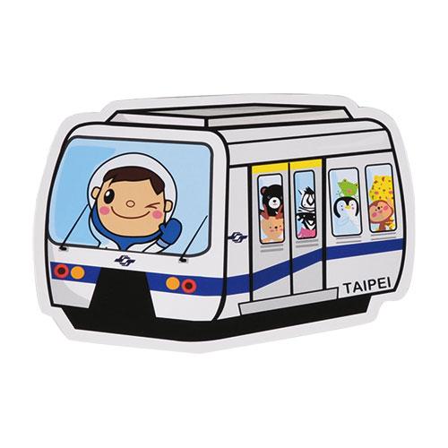 【MILU DESIGN】+PostCard>>台灣旅行明信片-台北捷運列車/明信片(台北交通/TAIPEI MRT/METRO)