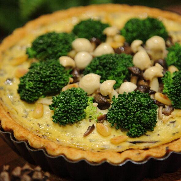 綠帶純植物烘焙:〖綠帶純植物烘焙〗森林野菇法式鹹派8吋