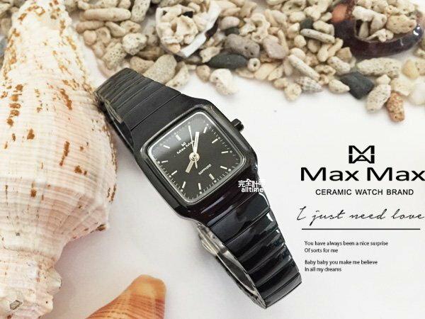 ~完全計時~手錶館│Max Max 極簡主義 正方時刻陶瓷錶 日期 水晶鏡面MAS5105