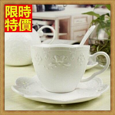 下午茶茶具 含茶壺+咖啡杯組合-2人簡約高檔浮雕陶瓷茶具69g47【獨家進口】【米蘭精品】