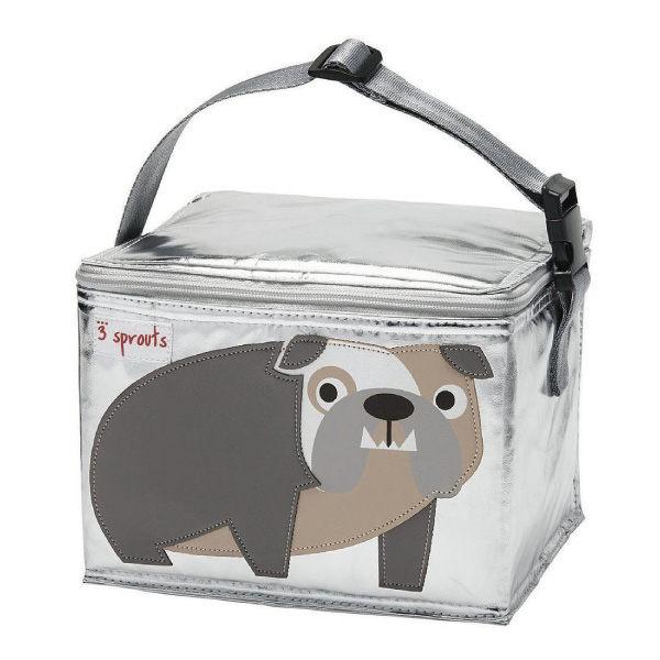 【原廠公司貨】加拿大3 Sprouts 午餐袋/母乳保冷/保溫袋-鬥牛犬