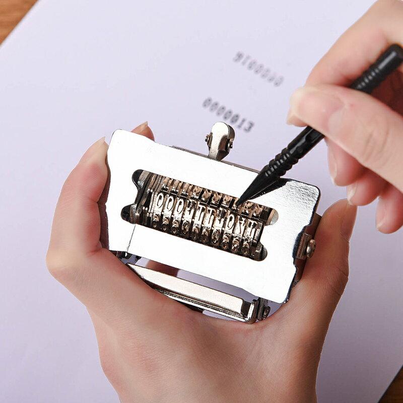 自動號碼機全自動號碼機全金屬7/8/9/10位數字生產日期打碼器銀行編號進號打印打號機『CM46027』