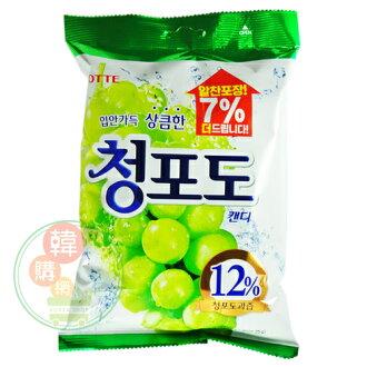 【韓購網】韓國樂天葡萄糖果323g大包裝★大顆,就像吃一顆葡萄喔★樂天糖果韓國進口韓國必買韓國零食韓國食品