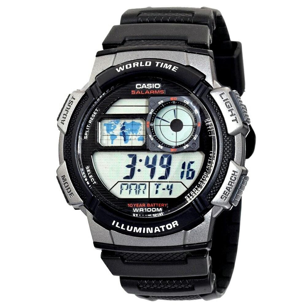 CASIO 卡西歐 AE-1000W 日系世界地圖多時區顯示運動腕錶 0