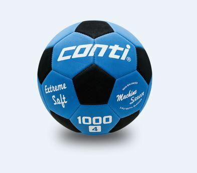 [陽光樂活] CONTI 足球 軟式安全足球(4號球) 藍/黑 S1000-4-BKB【12/1-31 單筆滿2000結帳輸入序號 XmasGift-outdoor 再折↘250   單筆滿1000結..