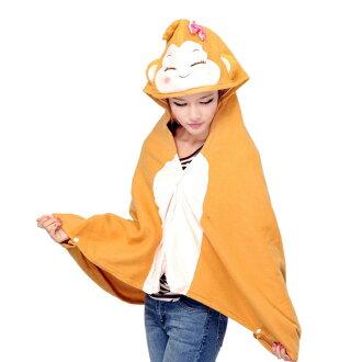 保暖毯 毯子 懶人毯 空調毯 可愛猴子【SV5451】快樂生活網