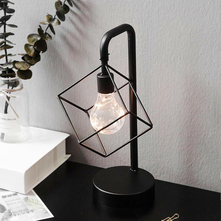 擺件北歐家居房間臥室床頭櫃擺設桌面創意個性燈小擺件玄關酒櫃裝飾品 艾琴海小屋