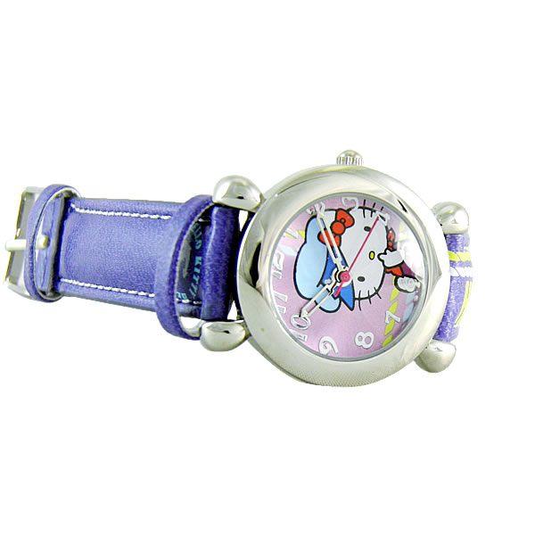 Hello Kitty 進口精品時尚手錶 - 快樂出航(紫) -HKFR152-03B