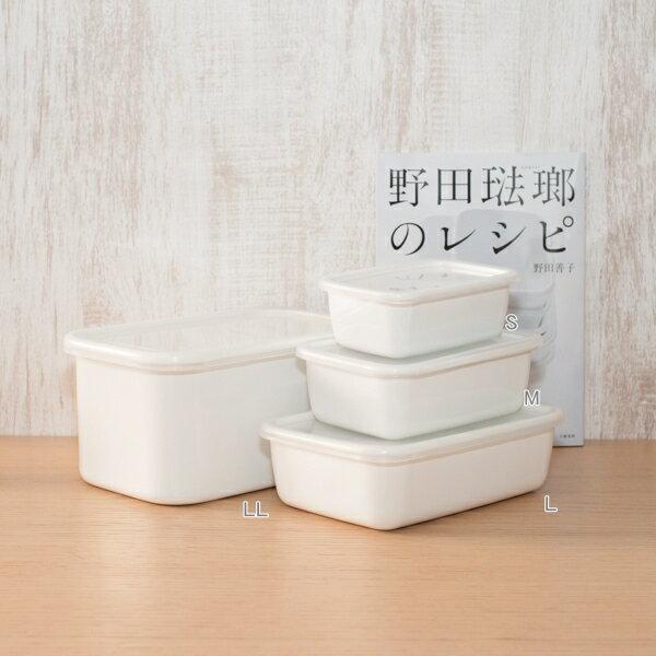 野田琺瑯 /  長方深型琺瑯收納盒透明EVA樹脂上蓋 4