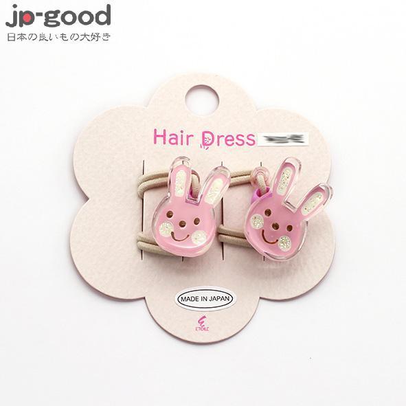 日本粉紅小兔髮帶髮圈