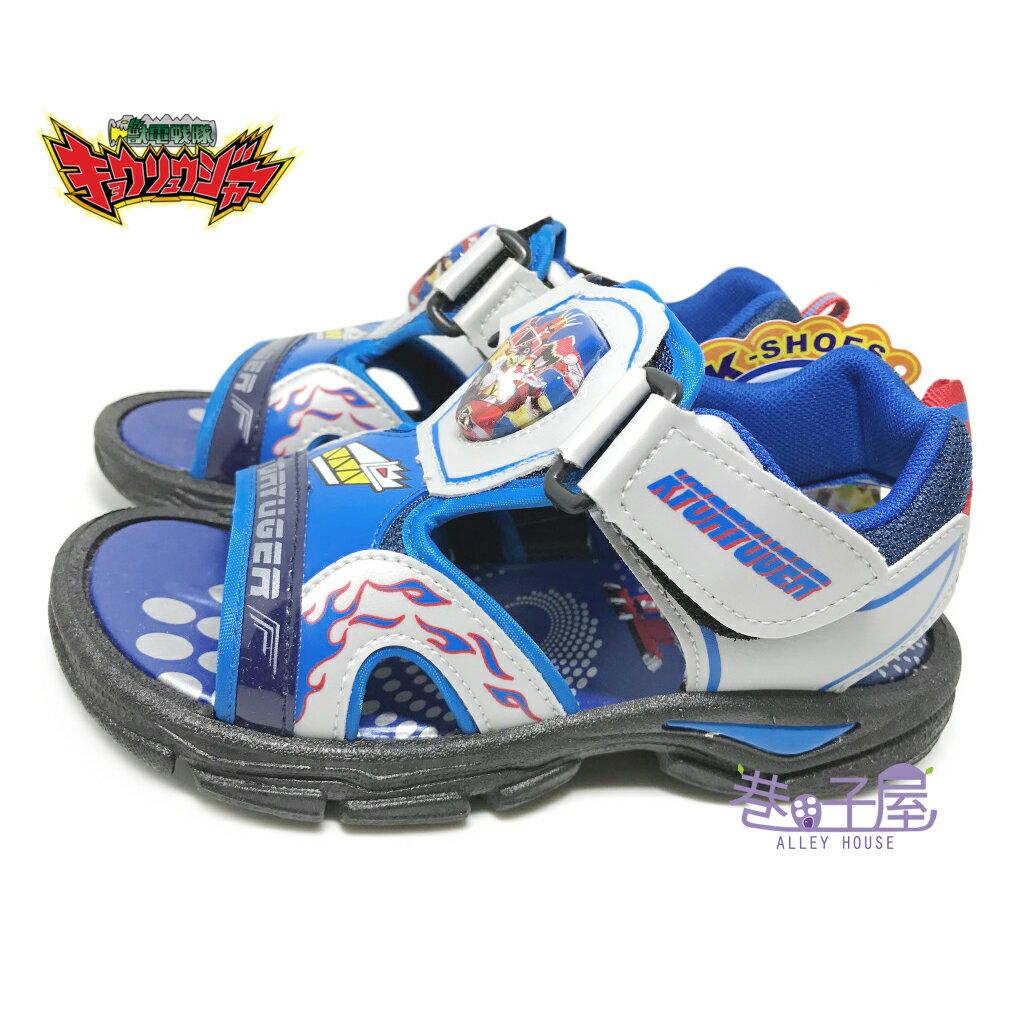 【巷子屋】獸電戰隊 男童電燈造型運動涼鞋 [50416] 藍 MIT台灣製造 超值價$198