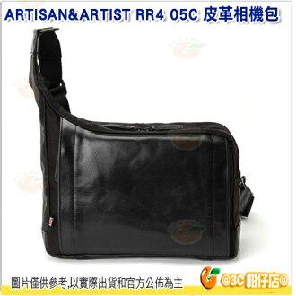 ARTISAN&ARTIST RR4 05C 皮革斜肩相機包 公司貨 A&A 1機3鏡 平板 斜肩 側背包 攝影相機包 黑色