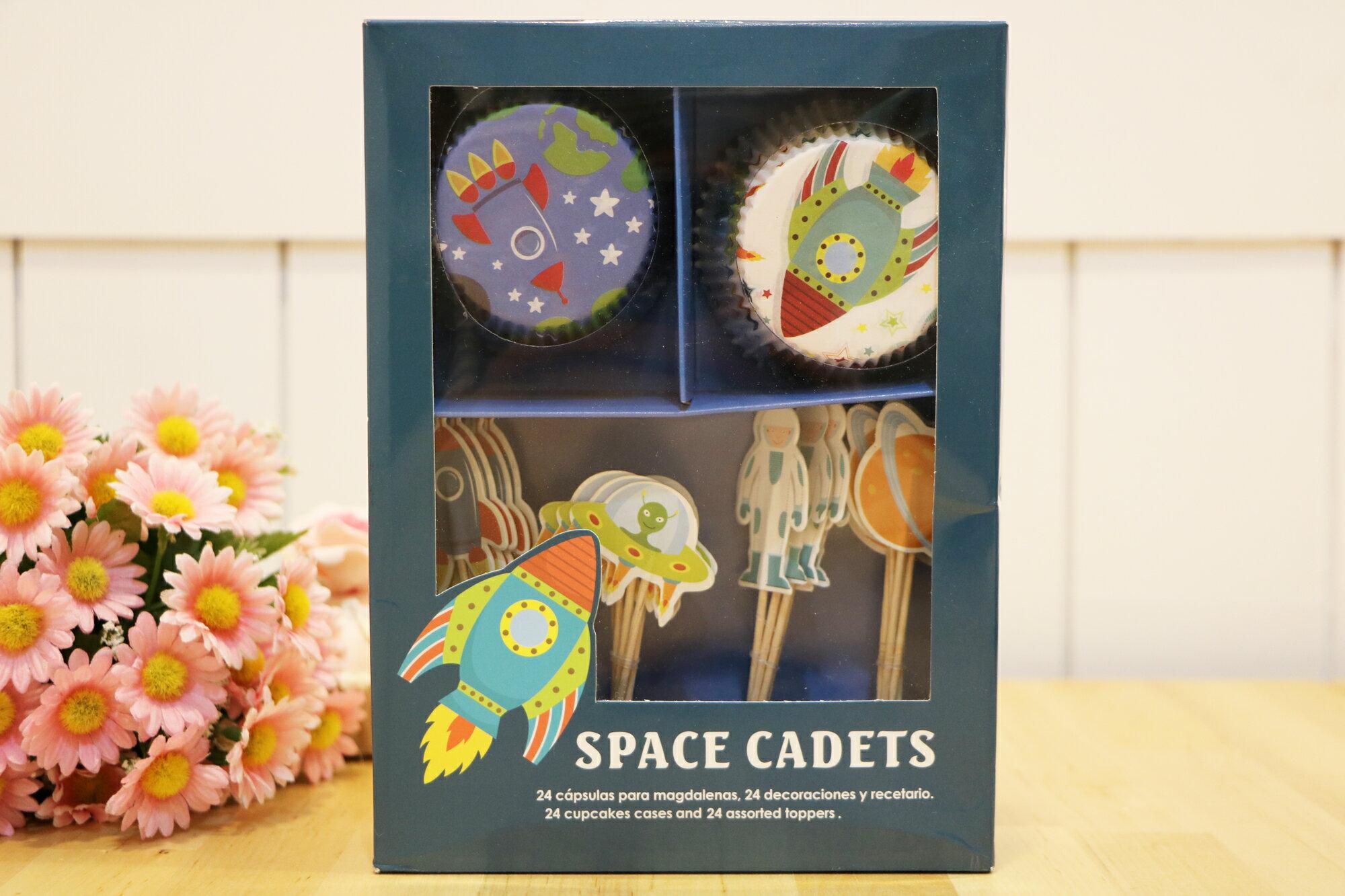 杯子蛋糕裝飾插組-太空遊歷記