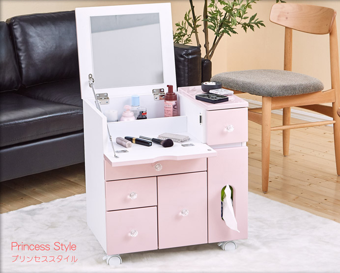 【Baby超活潑‧甜心寶貝】移動收納化妝台/化妝車/茶几/邊桌/工作桌/床頭櫃 0