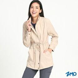 【H.Y SPORT】ZMO JG320 女 防潑水輕薄風衣外套 卡其色 防風/輕薄