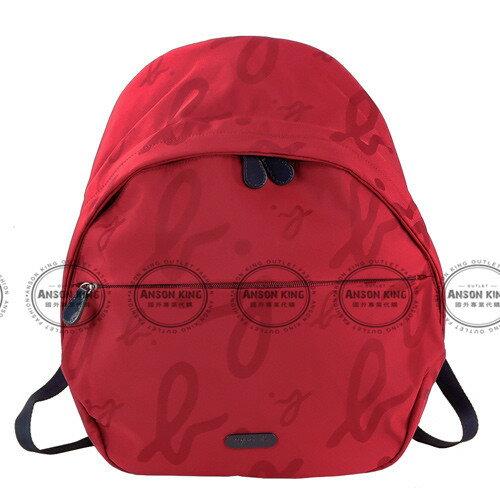 Outlet代購 agnes.b 字母後背包 小b (紅色) 另有四色 書包 通勤包 雙肩包 斜挎包 防水 0