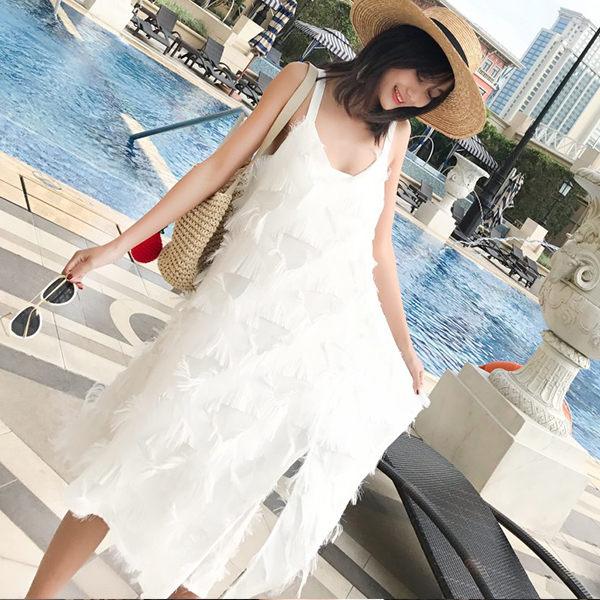 PS Mall 海島海灘長裙海邊度假裙 連身裙 洋裝【T045】 2