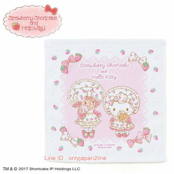 【真愛日本】17021100008限定聯名SSCKT純棉方巾-草莓AAA 三麗鷗 Hello Kitty 凱蒂貓  絲巾 方巾