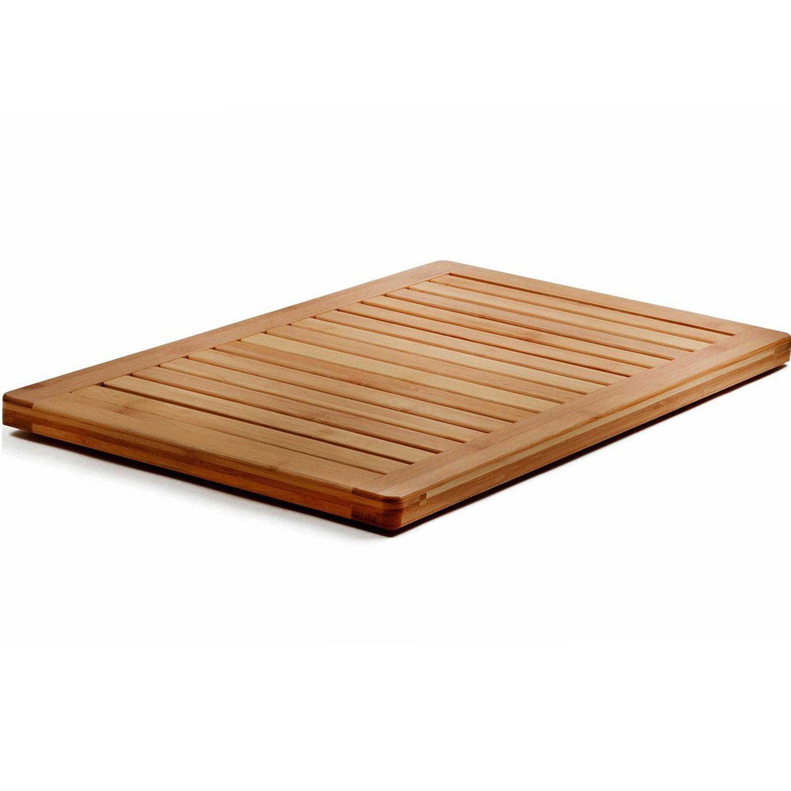 Bambusi 100 Natural Moso Bamboo Non Slip Floor Mat For Shower Spa Relaxation