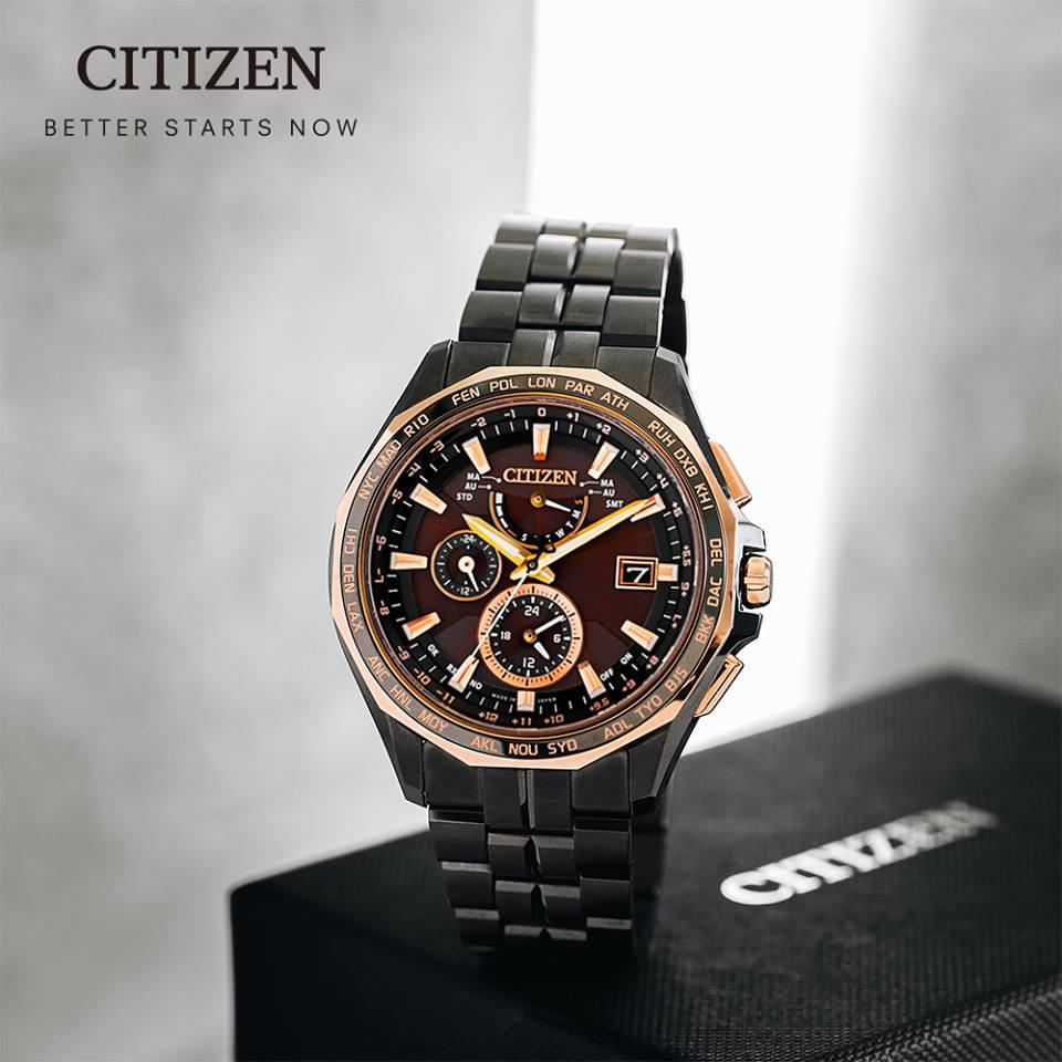 清水鐘錶 Citizen 星辰 Eco-Drive 光動能 時空碉堡鈦金屬全球電波腕錶 AT9096-73E 44mm