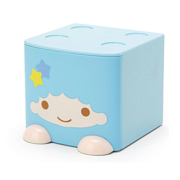 三麗鷗 kikilala 積木式迷你收納盒 積木盒 收納箱 置物盒 飾品盒 藍色 日本進口正版 090664