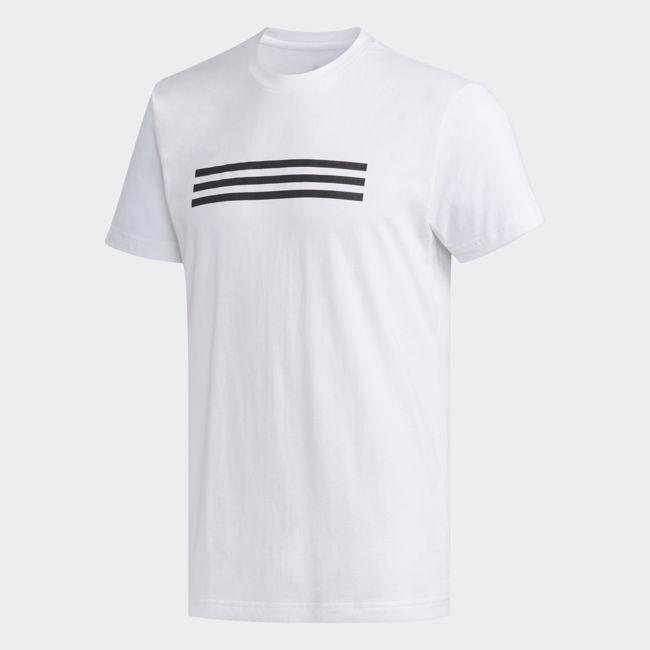ADIDAS GFX 3S 男裝 短袖 休閒 慢跑 經典 基本款 舒適 白【運動世界】DZ2204