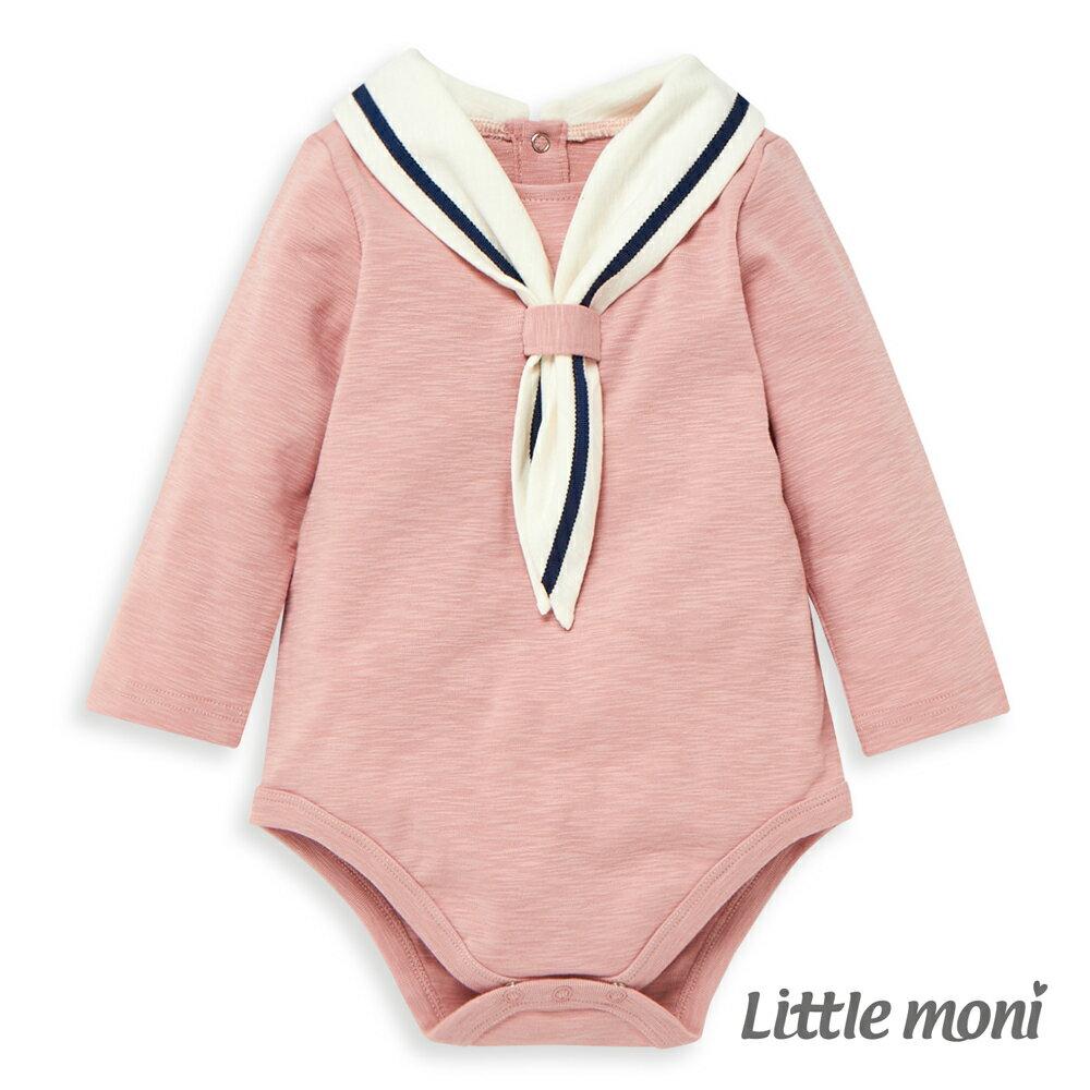 Little moni 海軍學院風包屁衣-粉紅 0