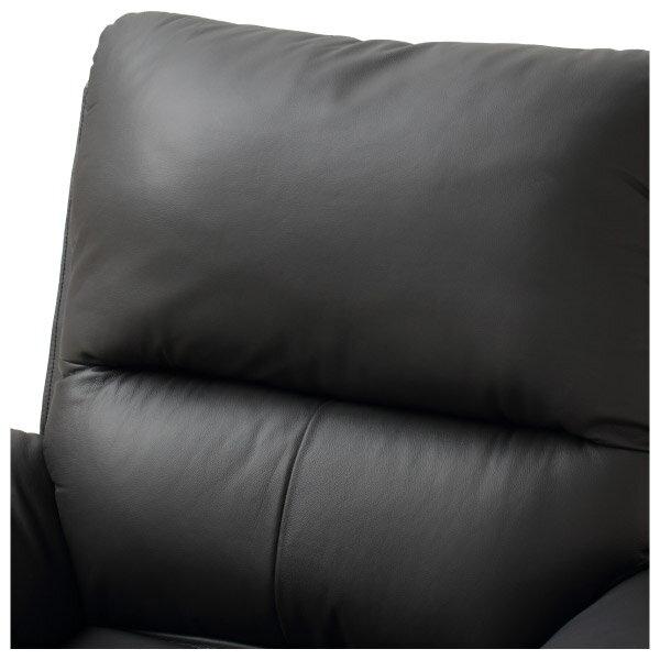 ◎半皮1人用電動可躺式沙發 N-BEAZEL BK NITORI宜得利家居 5