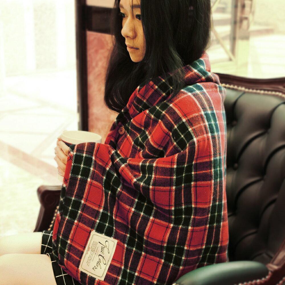 【DESTINO STYLE】格紋刷毛禦寒毯 0