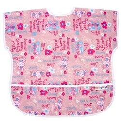 Baby City娃娃城 - 防水短袖圍兜(1-3A) 粉色兔子 199元