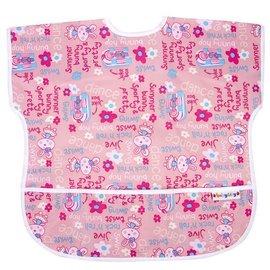 BabyCity娃娃城-防水短袖圍兜(1-3A)粉色兔子199元