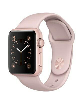 Apple Watch 玫瑰金色鋁金屬-粉沙色運動錶帶 38mm(Series1/Series2)