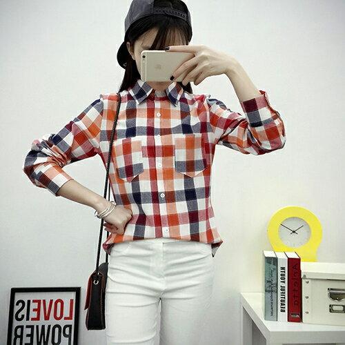 休閒經典百搭格子襯衫 (5色,M~2XL)【OREAD】 1