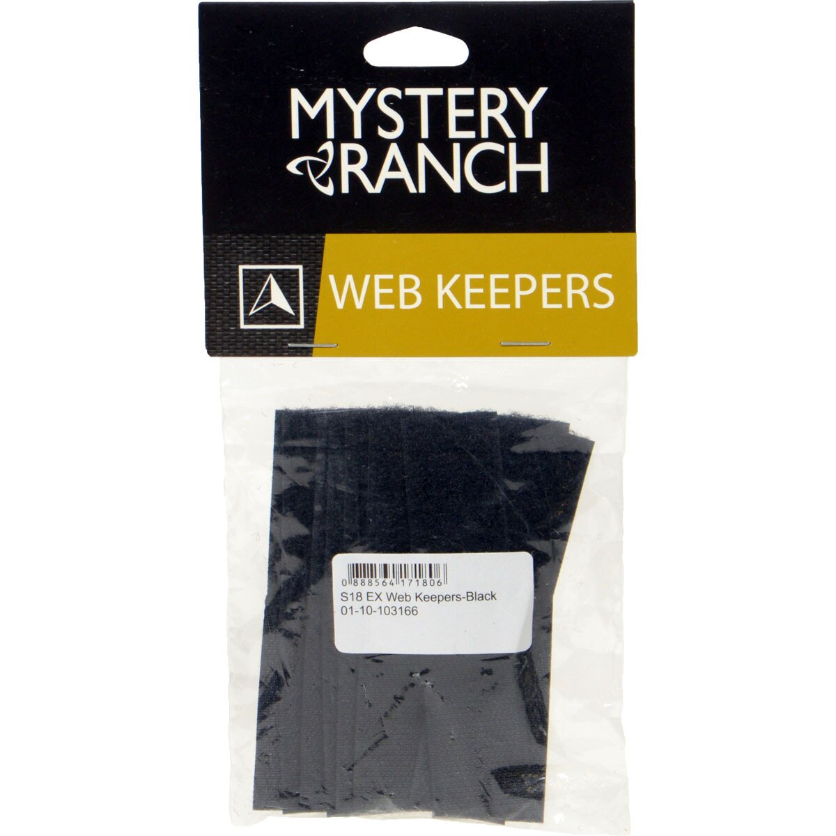 Mystery Ranch 神秘農場Web Keepers 背包整理帶 10 cm -黑 Black 台灣製61177Z1080【Happy Outdoor 花蓮遊遍天下】