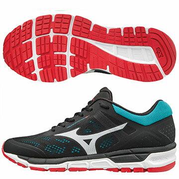 J1GE171961(黑灰X暗紅)MIZUNOSYNCHROMX2休閒款男慢跑鞋A【美津濃MIZUNO】