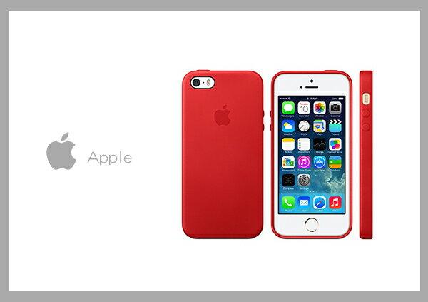Apple原廠iPhoneSE55Scase適用皮革保護套-紅(盒裝)