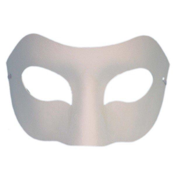 半罩面具 彩繪面具 空白面具(加厚)/一袋50個入(定40) 附鬆緊帶 歌劇魅影 紙漿面具 DIY面具 白臉譜-AA3965