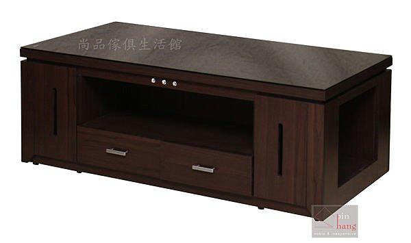【尚品傢俱】338-05 小帛 胡桃黑玻大茶几(附兩張腳椅)~另有小茶几~另有白色/會客桌