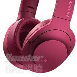 ~曜德~野遊享好禮~SONY MDR~100ABN 粉色 頭戴式抗噪耳麥 無線藍芽NFC