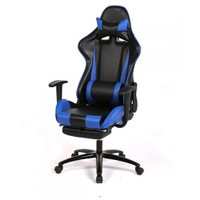 High-back Computer Gaming Racing Chair - Ergonomic Design, 180 Degrees Recline - Blue