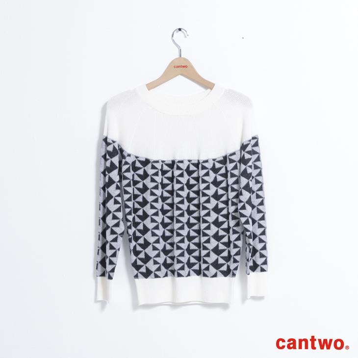 cantwo復古幾何圖紋針織上衣(共二色) 6