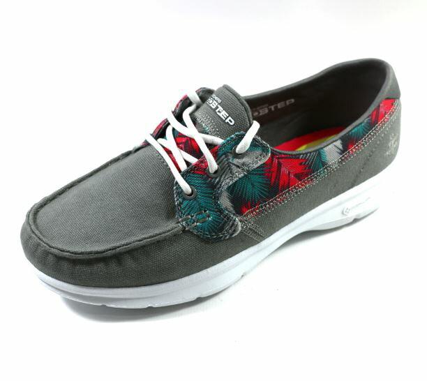 [陽光樂活] SKECHERS (女) 健走系列 ON THE GO 帆船鞋 - 14418GRY 灰色印花