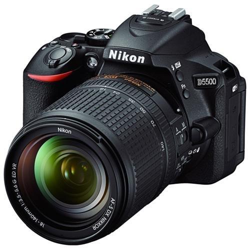 "Nikon D5500 24.2 Megapixel Digital SLR Camera with Lens International Version - 18 mm - 140 mm - 3.2"" Touchscreen LCD - 16:9 - 7.8x Optical Zoom - i-TTL - 6000 x 4000 Image - 1920 x 1080 Video - HDMI - PictBridge - HD Movie Mode - Wireless LAN 0"