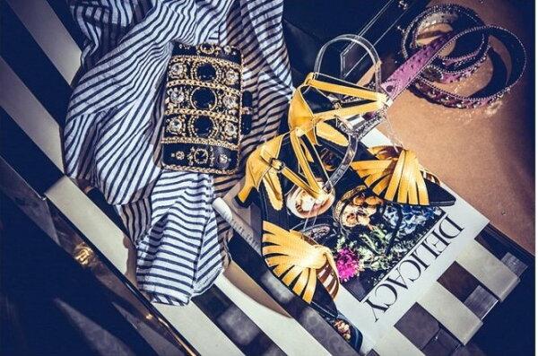 Pyf♥設計感尖頭款緞面小粗低跟繞踝魚口露趾涼鞋寬楦修飾包覆49大尺碼女鞋