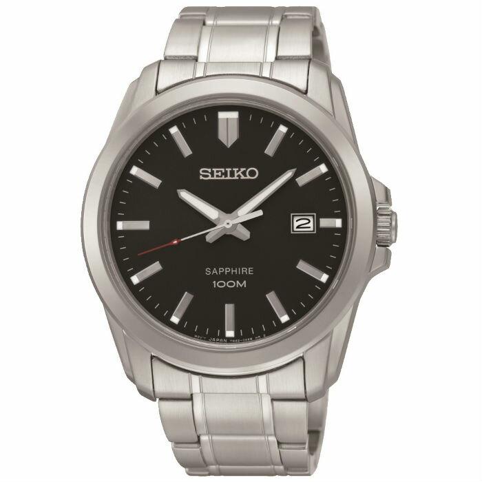 Seiko 7N42-0GD0D(SGEH49P1) 大三針經典簡約腕錶/黑面40mm