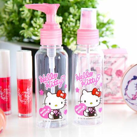 正版Hello Kitty旅行分裝瓶 100ml 空瓶 瓶子 化妝水 乳液 洗髮精 沐浴乳 旅行 出國 凱蒂貓 Kitty【B062350】